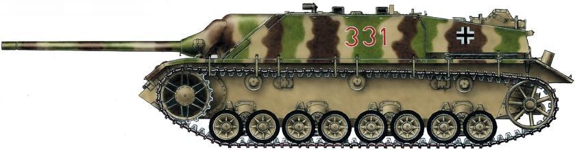 Panzer IV/70(V). 23-я танковая дивизия, район озера Балатон, март 1945 года