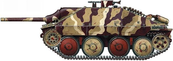 Hetzer, выпущенный заводом Skoda осенью 1944 года. Восточный фронт, Германия, весна 1945 года