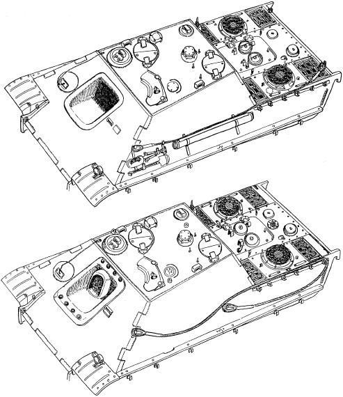 Корпуса «ягдпантер» раннего (вверху) и позднего (внизу) выпуска