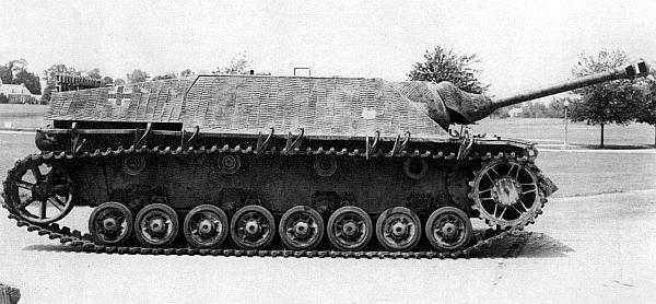 Для противотанковой САУ Jagdpanzer IV был характерен низкий силуэт, что давало ей преимущество в бою
