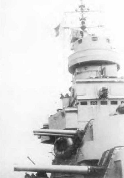 "Легкий крейсер ""Сципионе Африкано"" в Таранто. 5 мая 1944 г."