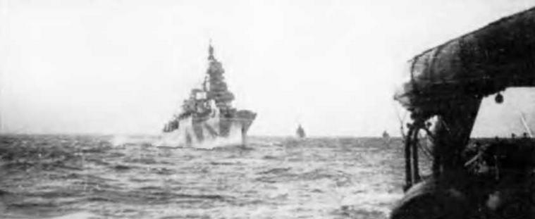 """Легкий крейсер """"Аттилио Реголо"""" 1944 г. и 23 января 1945 г. (3 фото внизу)"""