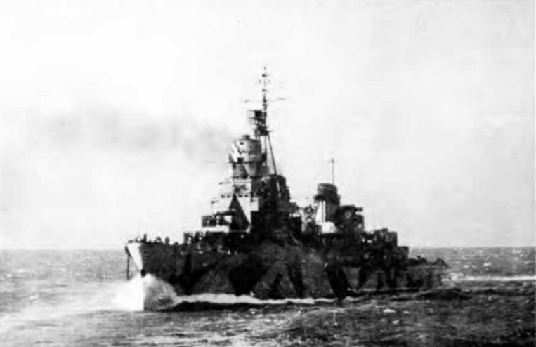 """Легкий крейсер """"Аттилио Реголо"""" 23 января 1945 г."""