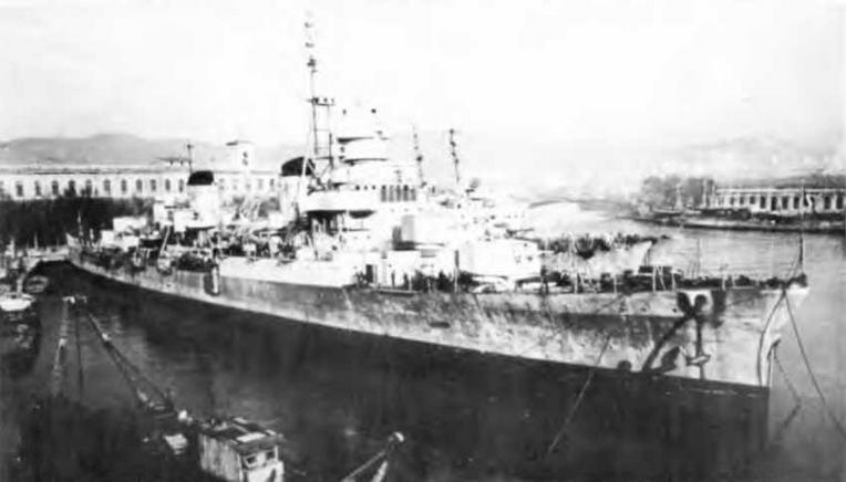 """Легкий крейсер """"Аттилио Реголо"""" в 1946-1948 гг."""