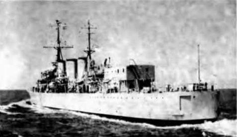 """Крейсера """"Бирменгем"""" и """"Мэнксмэн"""" (вверху), """"'Мэнксмэн"""" (в центре) и """"Аполло"""" . 1955 г."""