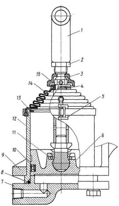 3.3.3 Механический привод выключения сцепления с пневмоусилителем