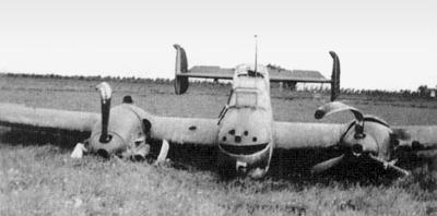 Потерпевший аварию самолет Bf.110