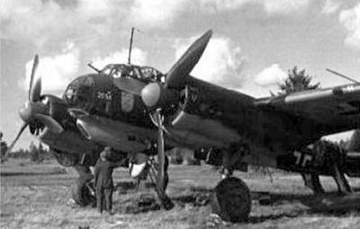 Самолет Ju.88А из состава 3-й бомбардировочной эскадры