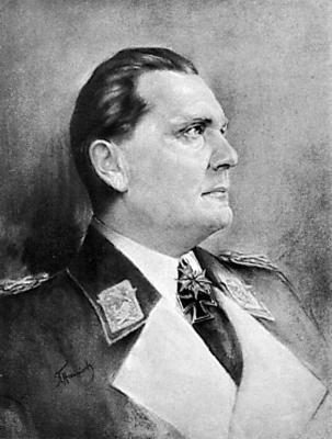Парадный портрет главнокомандующего люфтваффе рейхсмаршала Германа Геринга