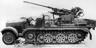 Самоходная зенитная установка SdKfz 6/1