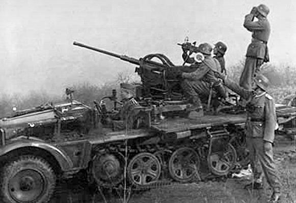 Самоходная зенитная установка SdKfz 10/5