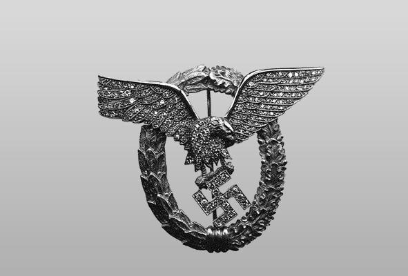 Знак «Летчик-наблюдатель» в золоте с бриллиантами