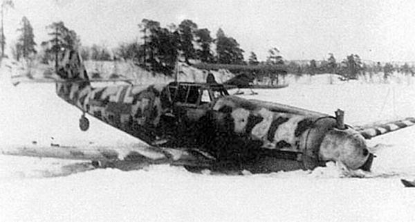 Самолет Рудольфа Мюллера, совершившего вынужденную посадку 19.4.1943