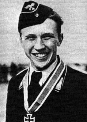 Хорст Ханниг в день награждения его Рыцарским крестом