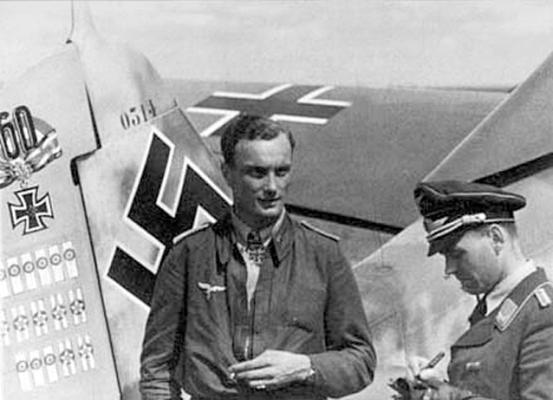 Летчик 9-й эскадрильи 2-й истребительной эскадры Йозеф Вурмхеллер в сентябре 1943