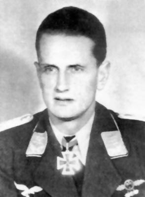 Кавалер Рыцарского креста, командир 1-й группы 3-й истребительной эскадры Йозеф Хайбёк