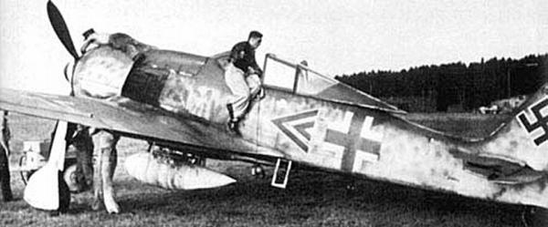 Самолет командира 4-й группы 3-й истребительной эскадры Вильгельма Моритца