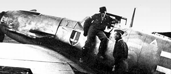 Самолет командира 2-й группы 11-й истребительной эскадры Вальтера Крупински
