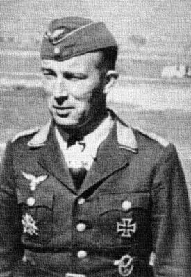 Командир 2-й группы 27-й истребительной эскадры Вольфганг Липперт