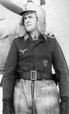 Кавалер Рыцарского креста, командир 2-й эскадрильи 54-й истребительной эскадры Ганс Гётц