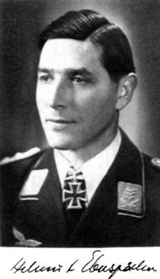 Кавалер Рыцарского креста, командир 3-й эскадрильи 20-й ночной группы Гельмут Эбершпэхер