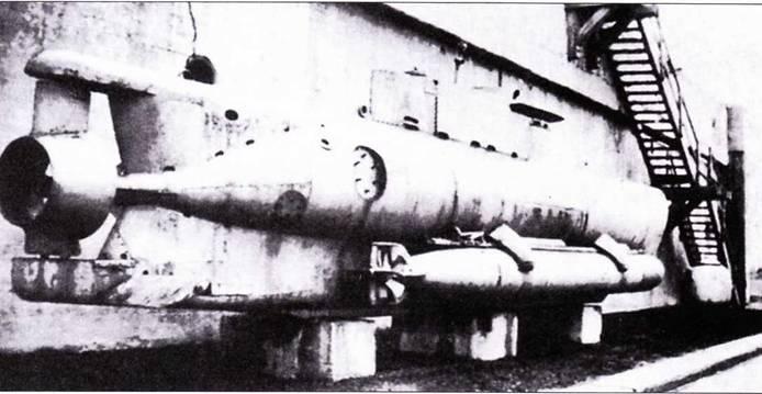 Сверхмалая подводная лодка типа Seehund с гидродинамической трубой на винте.