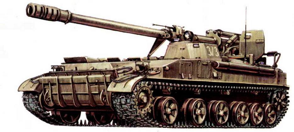 """Самоходная пушка 2С5 """"Г иацинт"""". Западная группа войск, Магдебургский полигон, февраль 1993 года."""