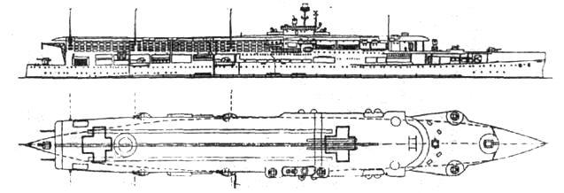 Авианосец «Фьюриес» в 1944 году
