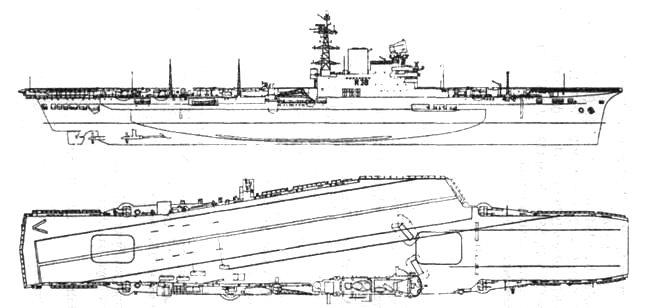 Авианосец «Викториес» после модернизации