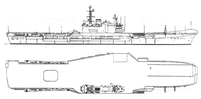 Авианосец «Гермес» после модернизации