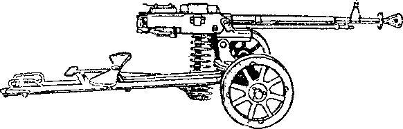 12,7-мм станковый пулемет конструкции Дегтярева и Шпагина образца 1938г.