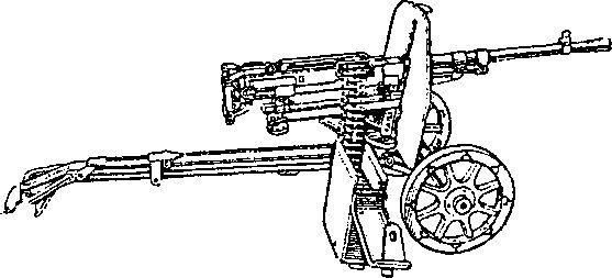 7,62-мм станковый пулемет конструкции Горюнова образца 1943г. на станке Дегтярева.