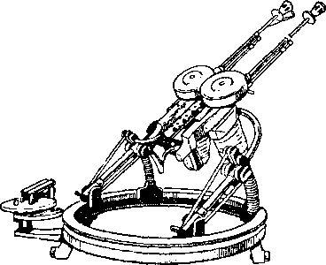 Спаренная турельная установка на основе пулеметов Дегтярева.
