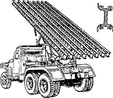 Боевая установка БМ-13 на машине повышенной проходимости.