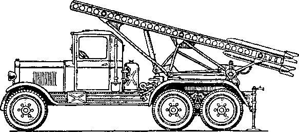 Серийная пусковая установка БМ-13.