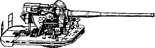 Качающаяся часть орудия Б-38.