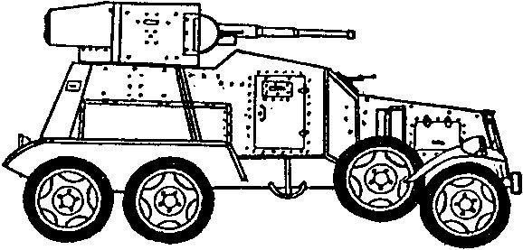 Средний советский бронеавтомобиль БА-6 образца 1935г.