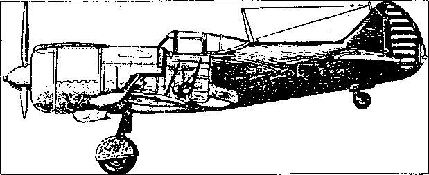 Советский истребитель с мотором воздушного охлаждения Лa-5.