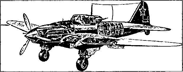 Фронтовой штурмовик Ил-2.