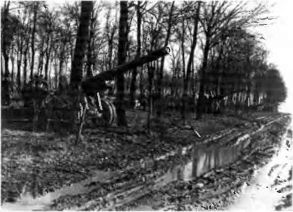Советская артиллерия на огневых позициях под Берлином