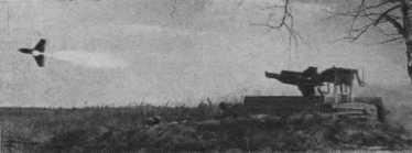 Боевой пуск противотанкового управляемого реактивного снаряда.