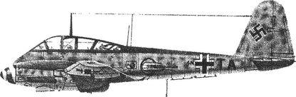 Немецкий тяжелый истребитель Ме-410.