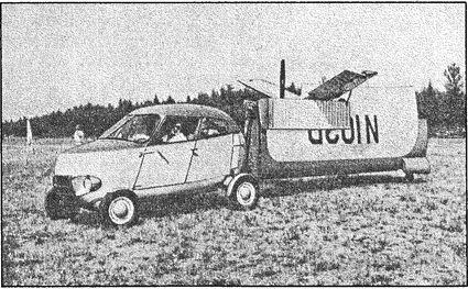 «Аэрокар» с самолетным комплектом, подготовленным для буксировки.