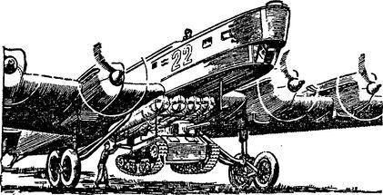 Подвеска танкетки к самолету ТБ-3.