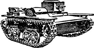 Плавающий танк Т-38 — первый танк, побывавший в воздухе.