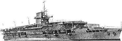 Английский авианосец «Глориес».