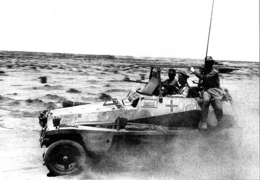 Машина связи Sd.Kfz.250/3 Greif— штабной бронетранспортер командующего германским Африканским корпусом генерала Э. Роммеля