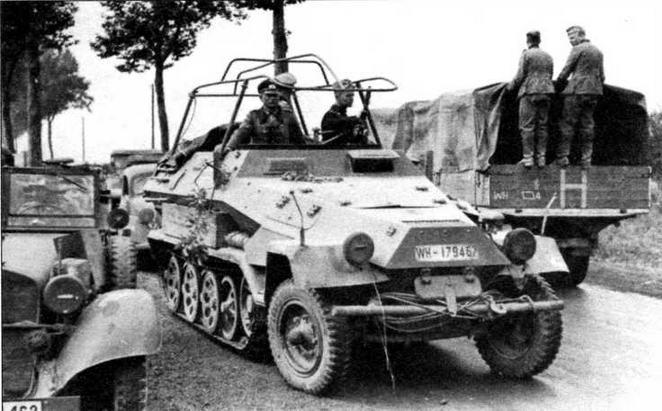 Подвижные командные пункты Sd.Kfz. 251/6 охотно использовались и военачальниками высшего звена, в том числе самым известным германским танковым командиром—генералом Г.Гудерианом