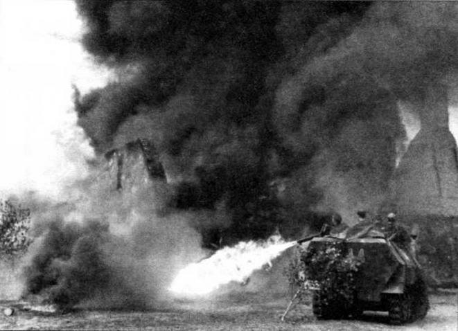 Бронетранспортер Sd.Kfz.251 /16 в бою
