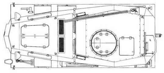 Sd.Kfz.253 (вид сверху)